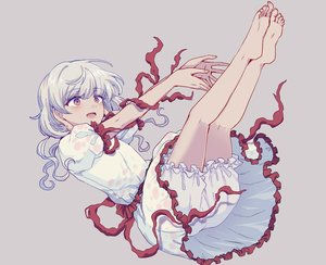 Rating: Safe Score: 36 Tags: barefoot bloomers blush cropped dress ebisu_eika gray gray_hair red_eyes ribbons touhou uranaishi_(miraura) User: otaku_emmy