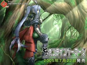 Rating: Safe Score: 36 Tags: armor blue_hair eyepatch green long_hair neev ponytail sano_toshihide shichinin_no_online_gamers User: Oyashiro-sama
