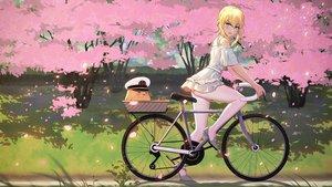 Rating: Safe Score: 92 Tags: 5555_96 anthropomorphism ass azur_lane bicycle dress manjuu_(azur_lane) pantyhose petals renown_(azur_lane) upskirt User: gnarf1975
