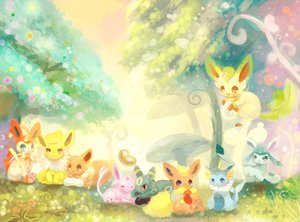 Rating: Safe Score: 49 Tags: eevee espeon flareon ginger_ale_(huwahuwaryuo) glaceon jolteon leafeon pokemon sylveon umbreon vaporeon User: FormX
