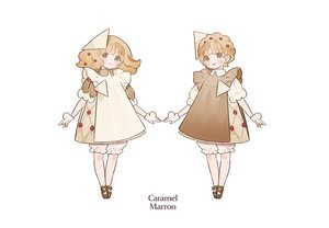 Rating: Safe Score: 17 Tags: blonde_hair bloomers brown_eyes dress gloves gwayo loli lolita_fashion original short_hair twins white User: otaku_emmy
