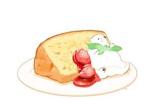 Rating: Safe Score: 25 Tags: animal bear cake chai_(artist) food fruit leaves nobody original polychromatic signed strawberry white User: otaku_emmy