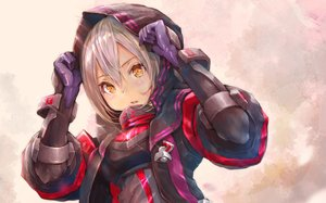 Rating: Safe Score: 118 Tags: armor blonde_hair cropped fate/grand_order fate_(series) gloves gray_hair hoodie hoshizaki_reita mysterious_heroine_x mysterious_heroine_x_alter orange_eyes User: deceze