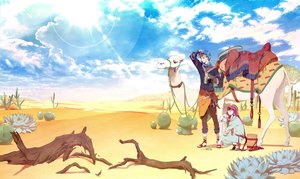 Rating: Safe Score: 23 Tags: all_male clouds desert male original sky tagme_(artist) User: kyxor