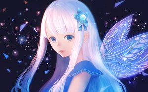 Rating: Safe Score: 24 Tags: blue_eyes bou_nin long_hair original polychromatic white_hair wings User: RyuZU