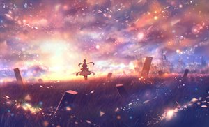 Rating: Safe Score: 31 Tags: bou_nin clouds grass original polychromatic scenic User: FormX
