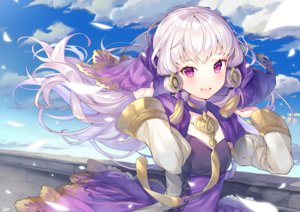 Rating: Safe Score: 40 Tags: clouds dress fire_emblem long_hair lysithea_von_ordelia purple_eyes ringozaka_mariko sky white_hair User: BattlequeenYume