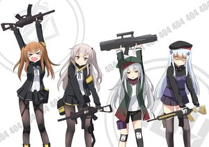 Rating: Safe Score: 95 Tags: agung_syaeful_anwar anthropomorphism bike_shorts blue_hair brown_eyes brown_hair cat_smile fang g11_(girls_frontline) girls_frontline gloves gray_hair green_eyes group gun hat hk416_(girls_frontline) kono_subarashii_sekai_ni_shukufuku_wo! loli long_hair pantyhose parody ponytail scarf seifuku shorts skirt thighhighs twintails ump-45_(girls_frontline) ump-9_(girls_frontline) weapon zettai_ryouiki User: otaku_emmy