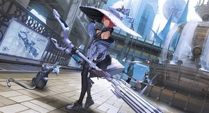 Rating: Safe Score: 59 Tags: animal building cape cat city hat hoodie mogumo original pantyhose red_hair short_hair weapon witch witch_hat User: Nepcoheart