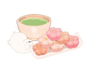 Rating: Safe Score: 10 Tags: animal bear chai_(artist) drink food nobody original polychromatic signed white User: otaku_emmy
