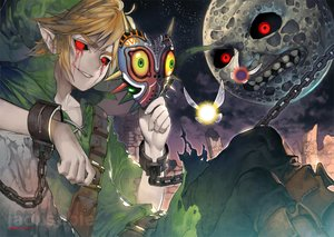 Rating: Safe Score: 35 Tags: all_male ben_drowned blonde_hair blood boots chain creepypasta fairy hat kawacy link_(zelda) male mask moon night pointed_ears red_eyes shackles signed tael tatl tears the_legend_of_zelda User: otaku_emmy