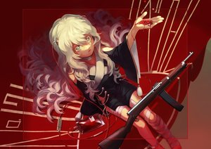 Rating: Safe Score: 33 Tags: anthropomorphism bandage blood girls_frontline gun red ribeyrolles_1918_(girls_frontline) shokumotsu_(syokumotu_gohan) weapon User: Fepple