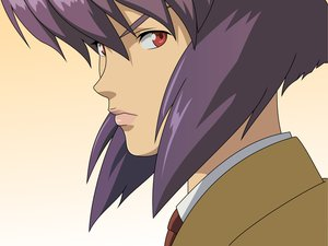Rating: Safe Score: 17 Tags: ghost_in_the_shell kusanagi_motoko purple_hair red_eyes User: happygestapo