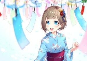 Rating: Safe Score: 34 Tags: aqua_eyes blush bon_(bonbon315) brown_hair japanese_clothes original short_hair white yukata User: otaku_emmy