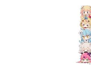 Rating: Safe Score: 30 Tags: animal_ears bell black_eyes blonde_hair blue_hair blush bow brown_hair catgirl cat_smile chibi demon fang food foxgirl fruit gloves gray_hair green_eyes group hat hololive horns long_hair mano_aloe momosuzu_nene muuran omaru_polka pink_hair pointed_ears shishiro_botan short_hair signed sleeping twintails white wristwear yellow_eyes yukihana_lamy User: otaku_emmy
