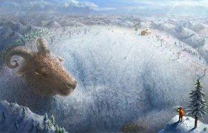 Rating: Safe Score: 89 Tags: animal original scenic snow yamahiro User: FormX