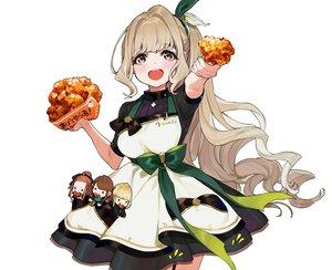 Rating: Safe Score: 34 Tags: apron bow brown_eyes brown_hair chibi cropped food long_hair original ponytail ribbons waitress white yuu_(higashi_no_penguin) User: otaku_emmy