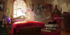 Rating: Safe Score: 49 Tags: animal bed book cat gray_hair long_hair lost_elle magic music original see_through signed User: SciFi