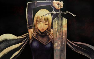 Rating: Safe Score: 40 Tags: armor cape clare claymore dark sword weapon User: dgnfly