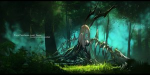 Rating: Safe Score: 51 Tags: blonde_hair bones forest horns long_hair original pixiv_fantasia scenic swd3e2 tree watermark User: RyuZU