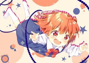 Rating: Safe Score: 9 Tags: dress hoshino_hinata kneehighs loli orange_eyes orange_hair shiraki_shiori short_hair watashi_ni_tenshi_ga_maiorita! User: sadodere-chan