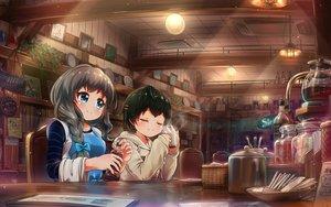 Rating: Safe Score: 10 Tags: 2girls battle_girl_high_school building drink narumi_haruka tamanegi_(12030028) wakaba_subaru User: mattiasc02