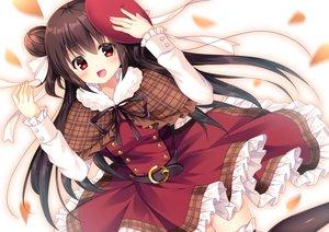 Rating: Safe Score: 58 Tags: brown_hair fujikura_ryuune hat long_hair original red_eyes User: luckyluna