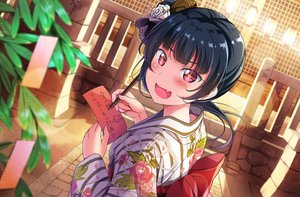 Rating: Safe Score: 67 Tags: black_hair blush bow fang flowers japanese_clothes love_live!_school_idol_project love_live!_sunshine!! pink_eyes short_hair stairs tipii tsushima_yoshiko User: RyuZU