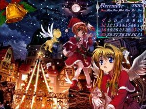 Rating: Safe Score: 14 Tags: air calendar card_captor_sakura christmas kamio_misuzu kero kinomoto_sakura moonknives wings User: Oyashiro-sama
