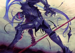 Rating: Safe Score: 25 Tags: all_male armor clouds fate_(series) fate/stay_night fate/zero lancelot_(fate) male semi_(semi_finalfight) sky spear weapon User: RyuZU