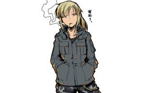 Rating: Safe Score: 95 Tags: blonde_hair hellshock original smoking suzumi_(hellshock) User: TommyGunn