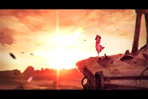 Rating: Safe Score: 122 Tags: animal cat hoodie jpeg_artifacts scenic sky sunakumo sunset User: Flandre93