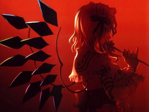 Rating: Safe Score: 50 Tags: cradle flandre_scarlet flowers red touhou vampire wings User: Oyashiro-sama