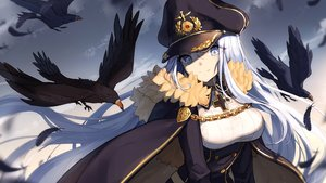 Rating: Safe Score: 97 Tags: animal bird bisonbison blue_eyes cape chain close clouds cross feathers hat long_hair military sky ulrich_von_hutten_(zhanjian_shaonu) uniform white_hair zhanjian_shaonu User: luckyluna