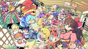 Rating: Safe Score: 34 Tags: animal animal_ears aqua_hair barefoot bird blonde_hair blush book bow braids brown_eyes brown_hair camera cat catgirl cat_smile chen cirno clownpiece dress drink fairy fish food foxgirl group hakurei_reimu hat horns ibuki_suika japanese_clothes kaenbyou_rin kirisame_marisa lily_white long_hair momoyama_nozomu orange_hair pantyhose petals pink_eyes pink_hair purple_eyes rumia shameimaru_aya short_hair star_sapphire sukuna_shinmyoumaru sunny_milk touhou tree yakumo_ran yakumo_yukari yellow_eyes User: RyuZU