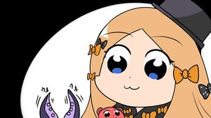 Rating: Safe Score: 15 Tags: abigail_williams_(fate/grand_order) blonde_hair blue_eyes bow cat_smile close fate/grand_order fate_(series) hat long_hair nantosei parody pop_team_epic teddy_bear tentacles User: otaku_emmy