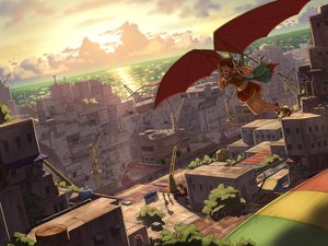 Rating: Safe Score: 101 Tags: amy_(suisei_no_gargantia) city suisei_no_gargantia yuugure User: FormX