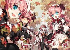 Rating: Safe Score: 15 Tags: apple autumn elsword food fruit group leaves loli long_hair male pika_(kai9464) pink_hair pointed_ears short_hair signed tagme_(character) thighhighs User: Fepple