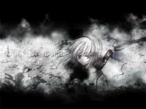 Rating: Safe Score: 14 Tags: katana konpaku_youmu sword touhou weapon User: Oyashiro-sama
