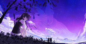 Rating: Safe Score: 32 Tags: animal aoi_sakurako blue_eyes clouds fish original silhouette sky stars User: FormX
