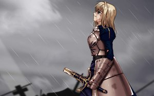 Rating: Safe Score: 14 Tags: artoria_pendragon_(all) fate_(series) fate/stay_night rain saber sky water User: 秀悟