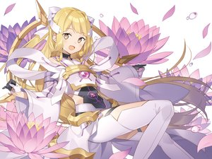 Rating: Safe Score: 41 Tags: blonde_hair brown_eyes flowers gloves long_hair nogi_sonoko petals rie_(reverie) yuuki_yuuna_wa_yuusha_de_aru User: RyuZU