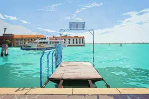 Rating: Safe Score: 43 Tags: boat original scenic signed sky umishima_senbon water User: FormX