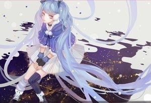 Rating: Safe Score: 28 Tags: blue_hair hatsune_miku long_hair twintails vocaloid ziiiing User: BattlequeenYume