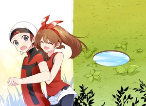 Rating: Safe Score: 24 Tags: brown_hair grass haruka_(pokemon) hat headband leaves long_hair male pokemon shorts tagme_(artist) yuuki_(pokemon) User: Flandre93