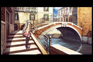 Rating: Safe Score: 65 Tags: alice_carroll aria blue_eyes gray_hair long_hair scenic skirt thighhighs User: w7382001