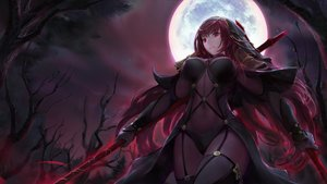 Rating: Safe Score: 54 Tags: choseon dark fate/grand_order fate_(series) long_hair moon night purple_hair red_eyes scathach_(fate/grand_order) sky spear tree weapon User: BattlequeenYume
