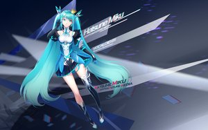 Rating: Safe Score: 3 Tags: aqua_eyes aqua_hair crown hatsune_miku long_hair samanta twintails vocaloid User: FormX