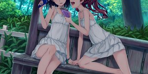 Rating: Safe Score: 119 Tags: 2girls 54crystle brown_hair dress food forest misaka_mikoto shirai_kuroko short_hair shoujo_ai to_aru_kagaku_no_railgun to_aru_majutsu_no_index tree wristwear User: RyuZU