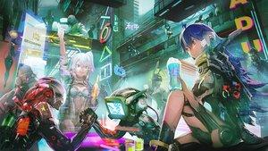 Rating: Safe Score: 44 Tags: clare_(543) group original robot techgirl User: RyuZU